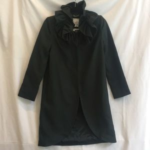 Milly fall forest green reefer coat 2